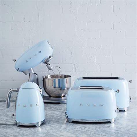 beautiful pastel blue kitchen accessories and appliances