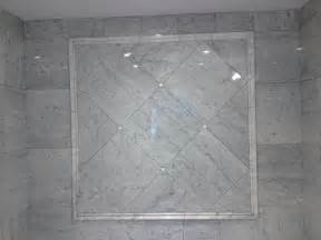Carrara Marble Tile Bathroom by Edmonton Tile Install White Marble Bathroom River City