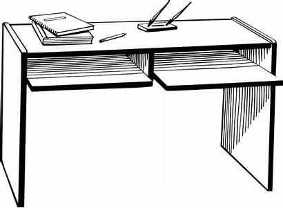 Desk Clipart Background Office Illustration Teacher Transparent