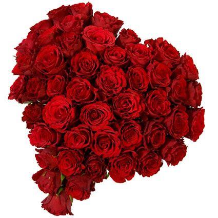 Ziedu piegāde | Rožu pušķis sirds formā