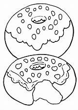 Donut Coloring Pages Food Print sketch template