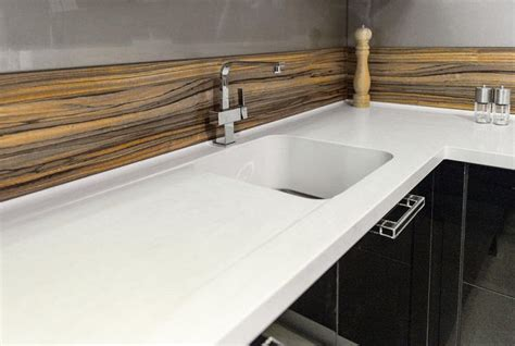 kitchen sink benchtop corian 174 colour cirrus white application benchtop and r60 2582