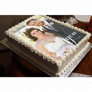 Love You Forever Personalized Photo Cake