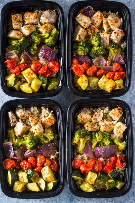 meal prep meal prep healthy roasted chicken and veggies