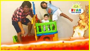 THE FLOOR IS LAVA CHALLENGE! Ryan ToysReview Family Fun ...