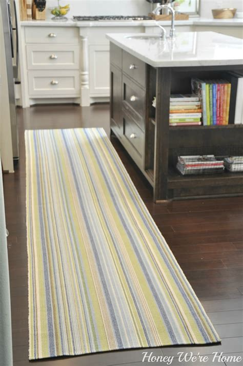 kitchen runner rugs adding color in the kitchen honey we re home