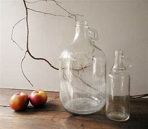 Large, U0026, Small, Vintage, Clear, Glass, Bottles, Or, Jugs, Fresh