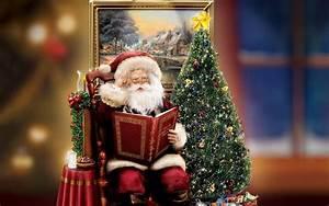 2560x1600 Santa, Decoration, Thomas Kinkade, Gift ...