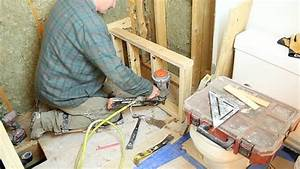 Shower Bench Seat Construction And Framing Step