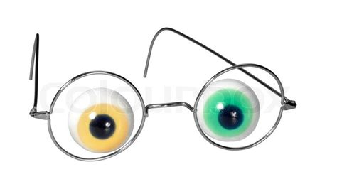 funny glasses  eyeballs isolated  stock image