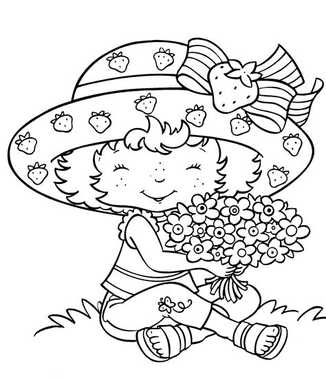 Printable Strawberry Shortcake Coloring Pages Advanced