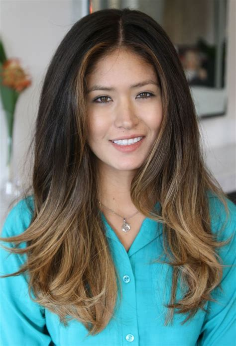 Dark Asian Hair With Ombre Balayage Hair Pinterest