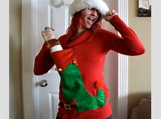 The Ugly Christmas Sweater Gets A Breastfeeding Mom Makeover