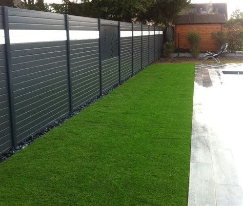 brise vue aluminium moderne jardin angers par