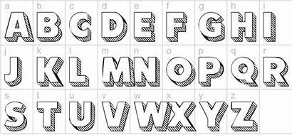 Font Block Letter Letters Fonts Alphabet 3d