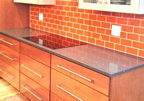 Want Bold Colors? Install Blue Glass Subway Tile Backsplash