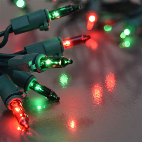 8 function red and green christmas string lights
