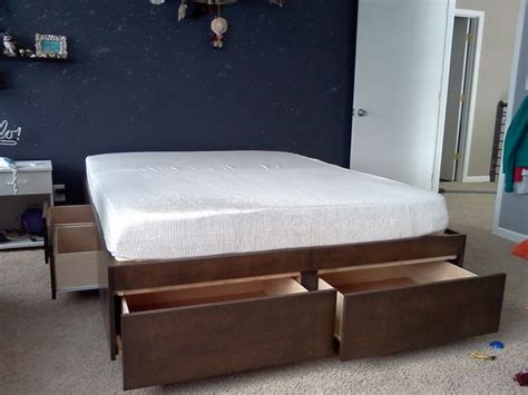 platform bed  drawers