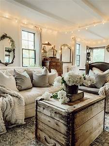 Rustic, Farmhouse, Cozy, Living, Room, Fixer, Upper, Cozy, Home, In