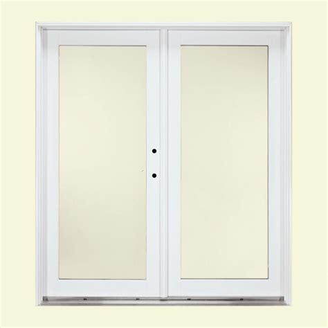 patio doors inswing vs outswing jeld wen 72 in x 80 in white right inswing steel