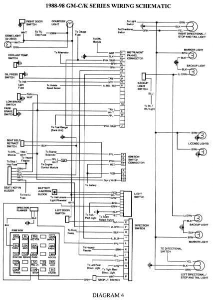 93 Chevy Wiring Diagram by 93 Chevy 1500 Radio Wiring Diagram Diagram Sle