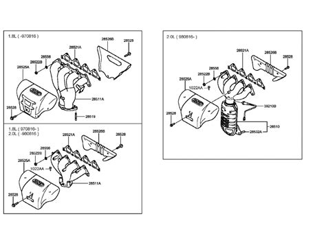 genuine hyundai manifold assembly exhaust
