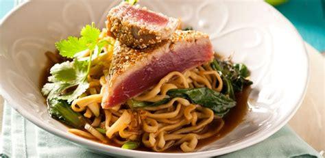 tuna steak recipes tuna steak with noodles