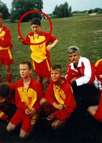 football players childhood pics  pics