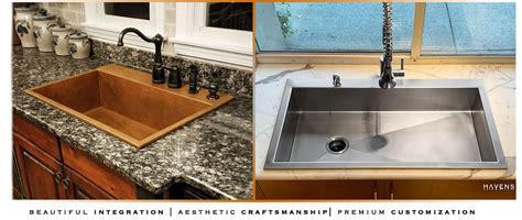 top mount sinks copper stainless usa havens