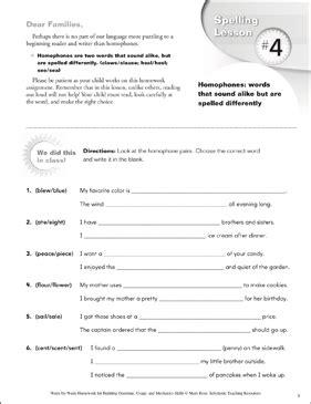grade  skill builder grammar usage  mechanics