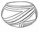 Coloring Pot Pottery Casas Template sketch template