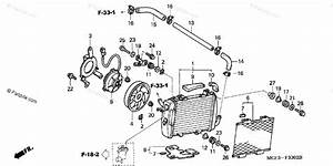 Honda Motorcycle 2003 Oem Parts Diagram For Radiator  L