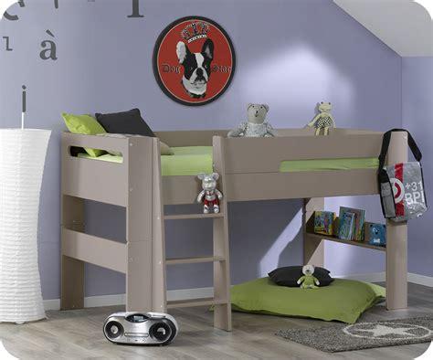 pack lit mi hauteur enfant wax 90 x 190 cm avec matelas ma chambre d enfant