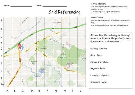 grid referencing  map skills activities  kristopherc