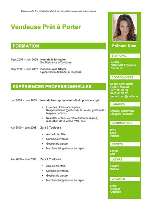 Le Cv Exemple by Exemple De Cv Originaux Gratuit A Telecharger Et Modele Cv