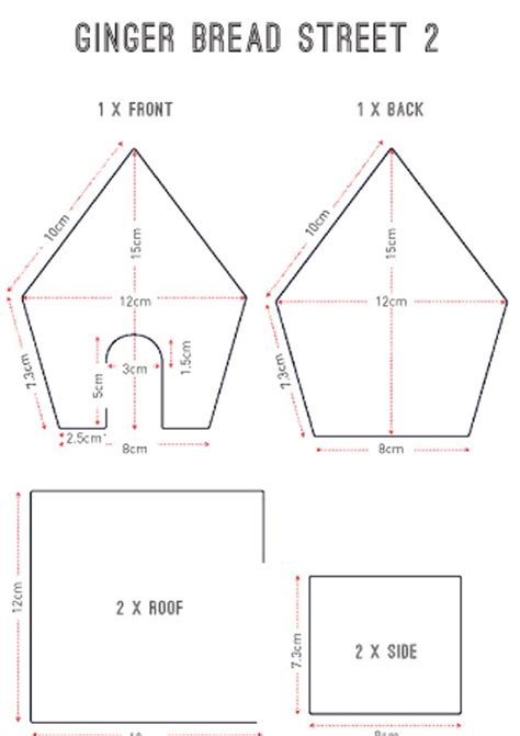 gingerbread house templates   images
