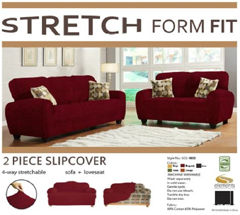 Sofa And Loveseat Cover Sets by Stretch Form Fit 2 Pc Slipcovers Set Sofa Loveseat