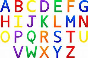 Colorful alphabet set free clip art for Free letter art pictures