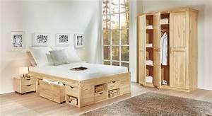 Gunstiges komplett schlafzimmer aus kiefer oslo bettenat for Günstiges schlafzimmer komplett