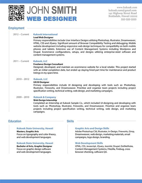 attractive resume templates masir