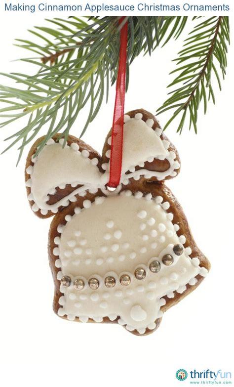 making cinnamon applesauce christmas ornaments thriftyfun