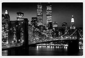 Bild New York Schwarz Weiß : new york manhattan nyc brooklyn bridge schwarz wei rahmen kunststoff mdf alu ebay ~ Bigdaddyawards.com Haus und Dekorationen