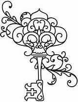 Key Skeleton Coloring Keys Embroidery Pages Drawing Outline Tattoos Adult Designs Colouring Tattoo Giant Awesome Pattern Sheets Lock Patterns Urban sketch template
