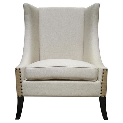 somer country two tone nailhead wing back chair