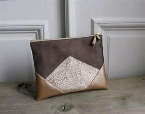 Pochette En Tissu : pochette en su dine simili cuir et tissus paillettes ~ Farleysfitness.com Idées de Décoration