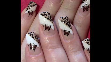 nageldesign selber machen kurze nägel leo schmetterling nageldesign selber machen nail design tutorial sting nail sticker
