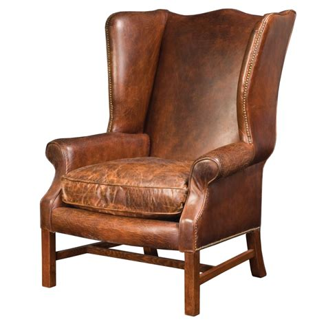 rustic kitchen islands and carts wingback arm chair in cigar leather