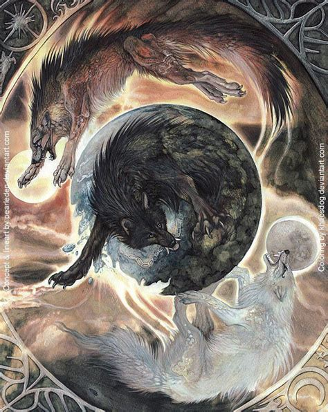 fenrir nordic mythology art pinterest