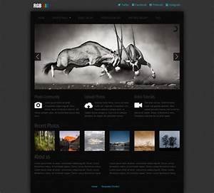 free photo gallery css web template templates perfect With photo gallery html template free download