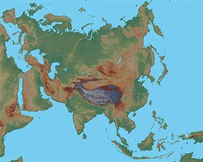 Asia Map Physical Geology Earth Resolution Satellite